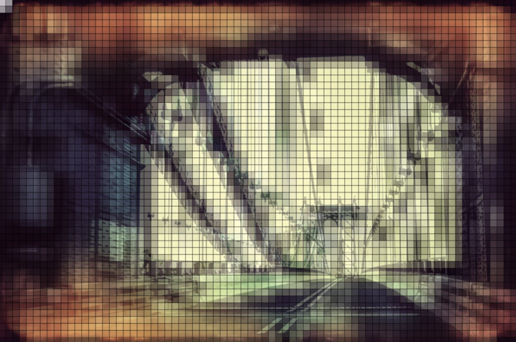 Abstract stylized tunnel