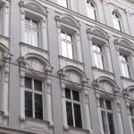 Old european city building